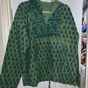 Tops - Hippie canvas chillin' hoodie!